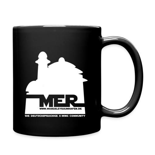 MER-Kaffeebecher beidseitig bedruckt - Tasse einfarbig