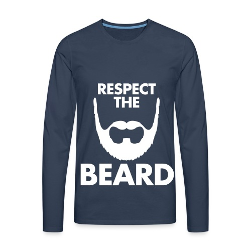 RESPECT THE BEARD Men's longsleeve shirt - Men's Premium Longsleeve Shirt