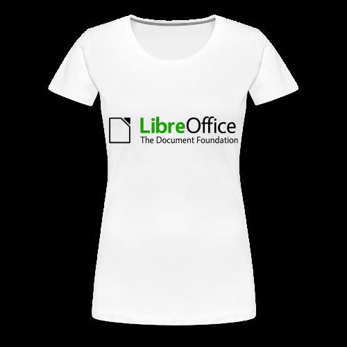 LibreOffice T-Shirt for women, white - Women's Premium T-Shirt