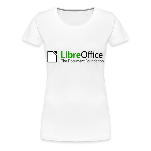 LibreOffice T-Shirt for women, white - Women's Premium T-Shirt