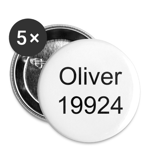 Oliver19924 Ansteck Button 25mm - Buttons klein 25 mm (5er Pack)