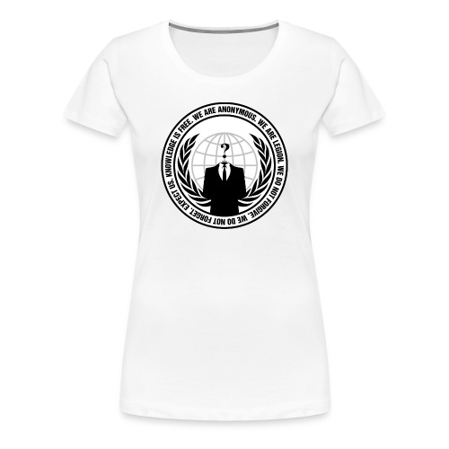 Anonymous Premium T-Shirt WOMEN - Camiseta premium mujer