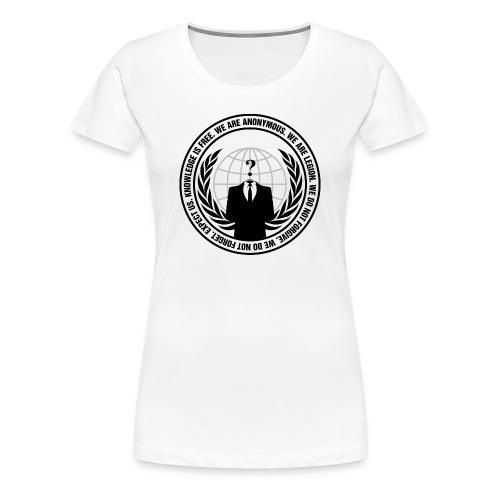 Anonymous Premium T-Shirt WOMEN - Frauen Premium T-Shirt