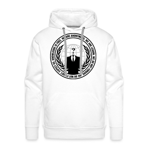Anonymous Premium Hoodie Men - Sweat-shirt à capuche Premium pour hommes