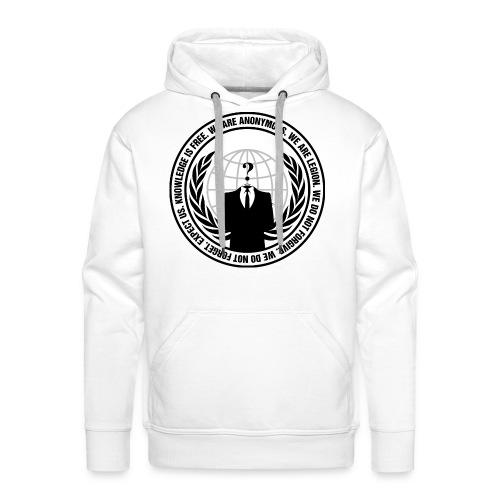 Anonymous Premium Hoodie Men - Sweat-shirt à capuche Premium pour hommes