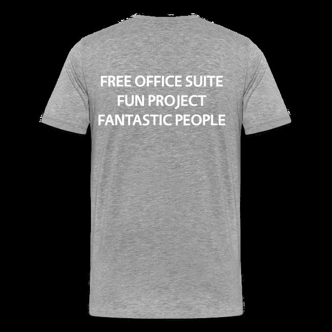 LibreOffice T-Shirt for men, grey