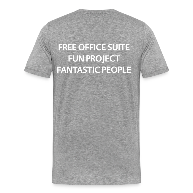 LibreOffice T-Shirt for men, grey