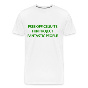 LibreOffice T-Shirt for men, white - Men's Premium T-Shirt