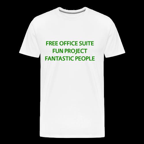 LibreOffice T-Shirt for men, white - Men's Premium T-Shirt