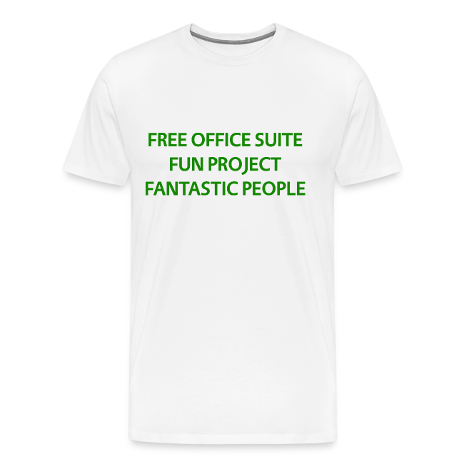 LibreOffice T-Shirt for men, white