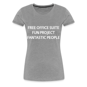 LibreOffice T-Shirt for women, grey - Women's Premium T-Shirt