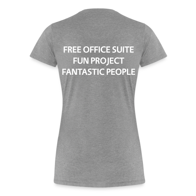 LibreOffice T-Shirt for women, grey