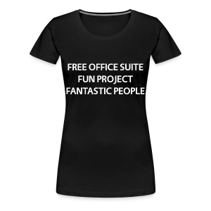LibreOffice T-Shirt for women, black - Women's Premium T-Shirt