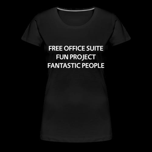 LibreOffice T-Shirt for women, black - Women's Premium T-Shirt