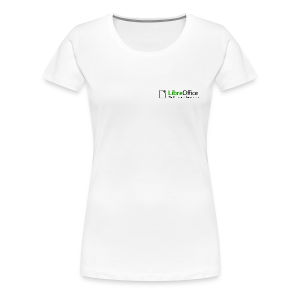 LibreOffice T-Shirt for women, small logo - Women's Premium T-Shirt