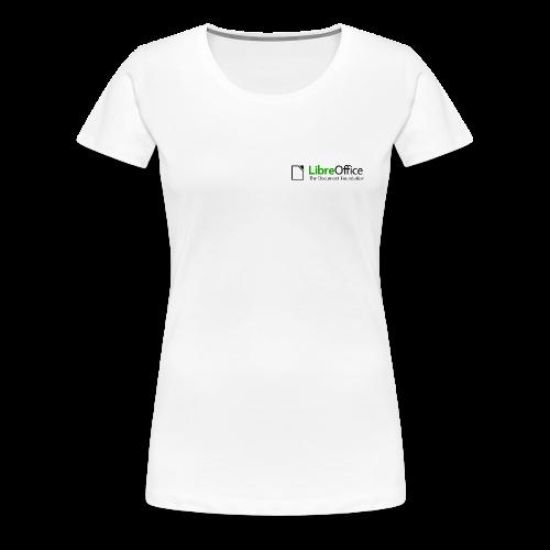 LibreOffice T-Shirt for women, small logo - Women's Premium T-Shirt
