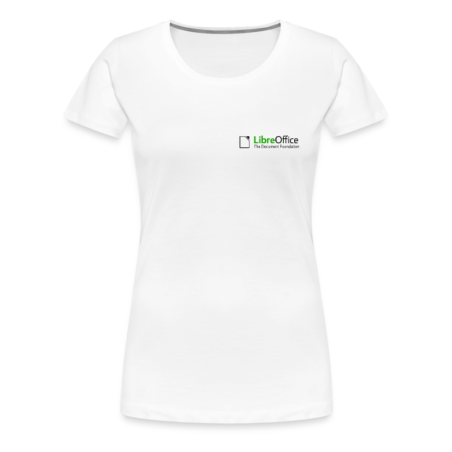 LibreOffice T-Shirt for women, small logo