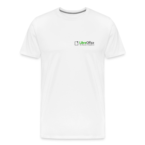 LibreOffice T-Shirt for men, small logo - Men's Premium T-Shirt