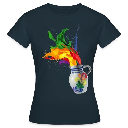 CSD Frankfurt Frauen-T-Shirt schwarz, einseitig - Frauen T-Shirt