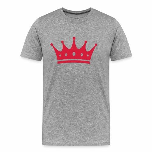 Männer grau rote Krone - Männer Premium T-Shirt