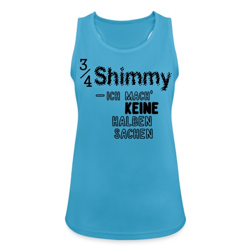 3/4 Shimmy - Tanktop bunt/hell - Frauen Tank Top atmungsaktiv