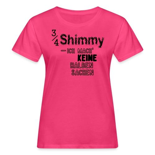 3/4-Shimmy T-Shirt bunt/hell - Frauen Bio-T-Shirt