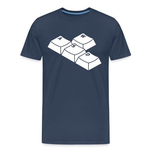 WASD T-Shirt Blauw - Mannen Premium T-shirt