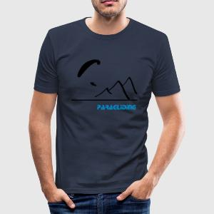 Paragliding Shirt Berg blue - Männer Slim Fit T-Shirt