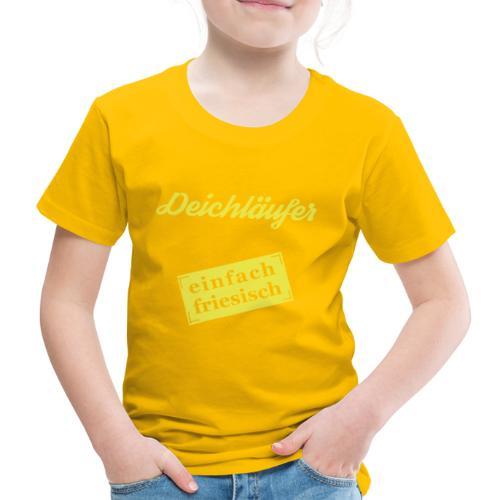 einfach friesisch - Deichläufer, Kinder-T-Shirt - Kinder Premium T-Shirt