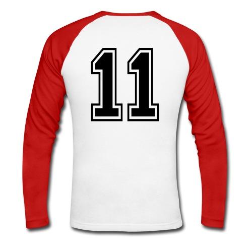 back number - Mannen baseballshirt lange mouw