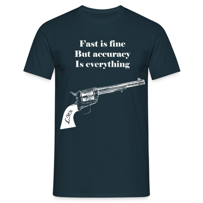 """T-shirt homme bleu """"Wyatt Earp"""" maxi motif"""