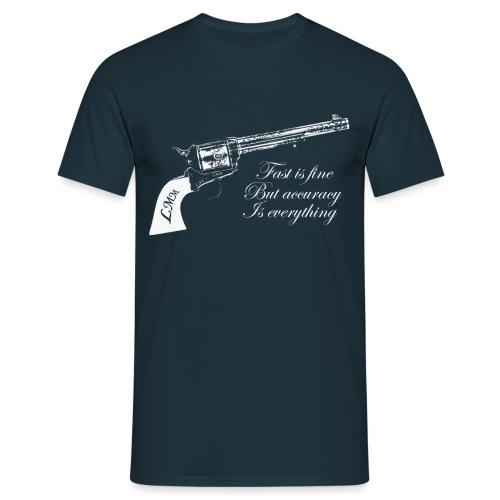 T-shirt homme bleu Wyatt Earp - T-shirt Homme