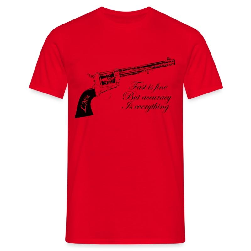 T-shirt homme rouge Wyatt Earp - T-shirt Homme