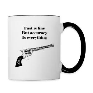 Mug blanc et noir Wyatt Earp - Tasse bicolore