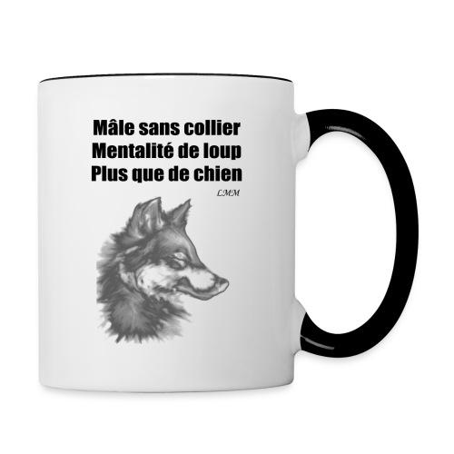 Mug blanc et noir Mâle sans collier - Mug contrasté