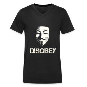 DISOBEY V T-Shirt MEN - Männer Bio-T-Shirt mit V-Ausschnitt von Stanley & Stella