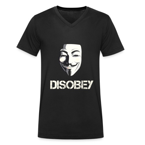 DISOBEY V T-Shirt MEN - Ekologisk T-shirt med V-ringning herr från Stanley & Stella