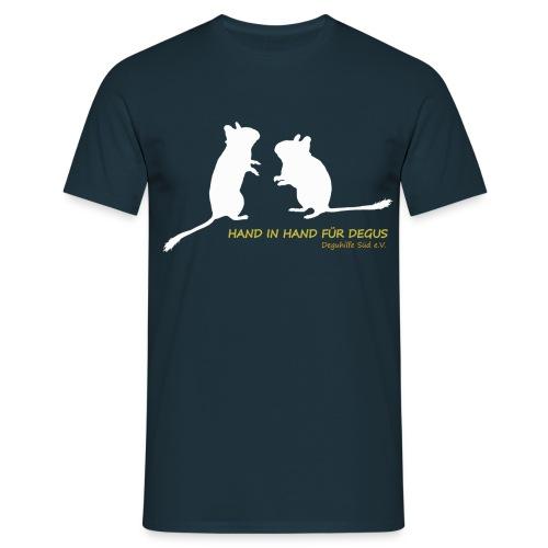 Degu-Duo - Hand in Hand für Degus - Männer T-Shirt