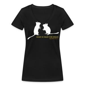 Deguhilfe Süd e.V. - Schattenriss - Frauen Bio-T-Shirt mit V-Ausschnitt von Stanley & Stella