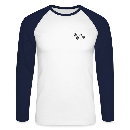 Longsleeve Kristall - Männer Baseballshirt langarm