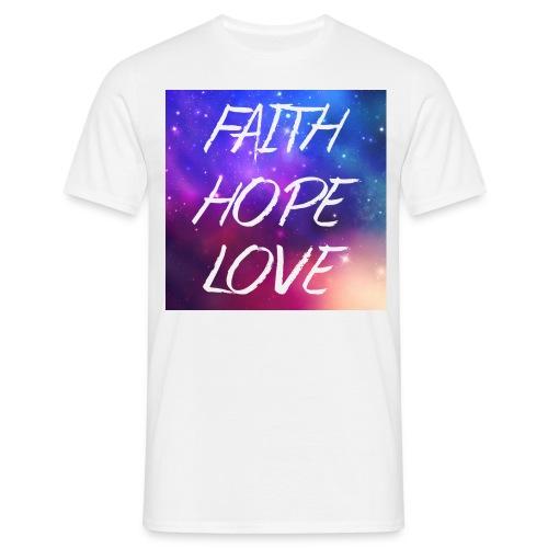 #FaithHopeLove - Männer T-Shirt