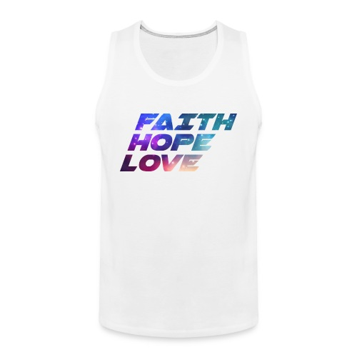 #FaithHopeLove3 - Männer Premium Tank Top