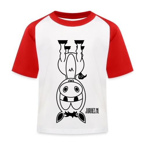 Lodewijk op zijn kop shirt - Kinderen baseball T-shirt