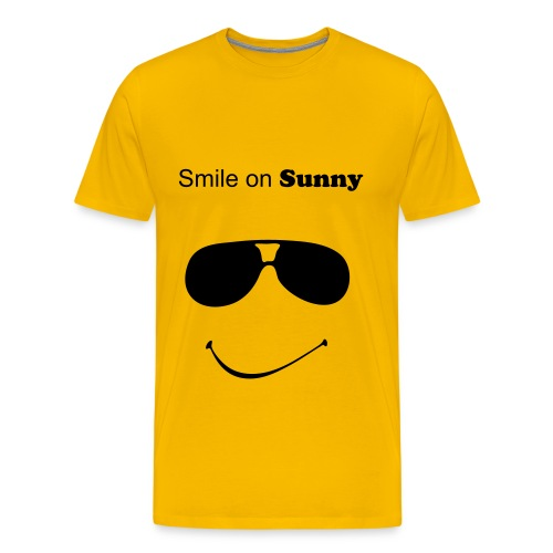 T-Shirt gelb smile on - Männer Premium T-Shirt
