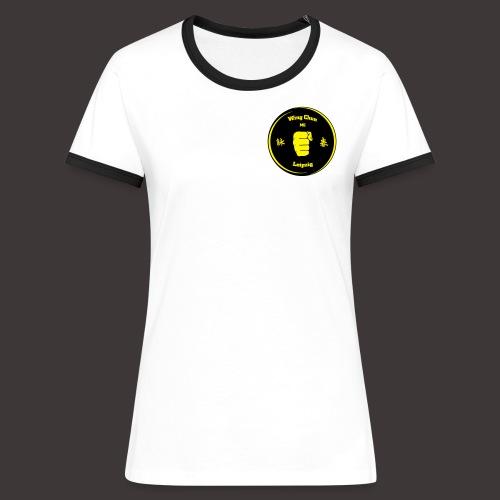 Frauen Kontrast T-Shirt, Baumwolle - Frauen Kontrast-T-Shirt