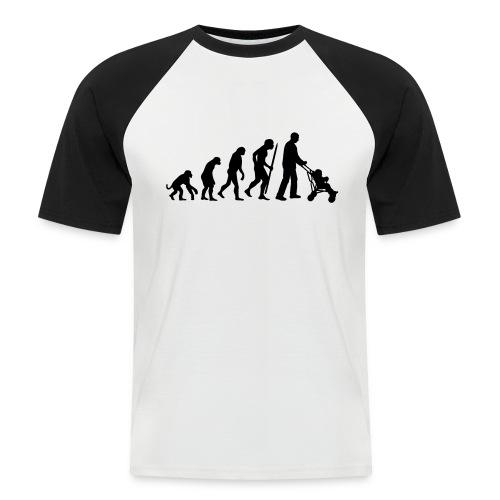 evolution of a dad - Mannen baseballshirt korte mouw