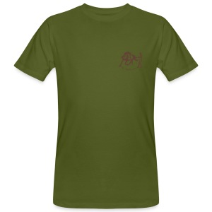 Groundwork Small - Men Bio Shirt (Print: Brown - digital) - Männer Bio-T-Shirt
