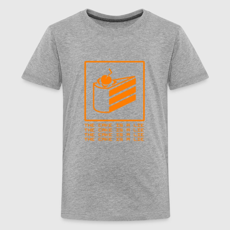 THE CAKE IS A LIE Shirts - Teenager Premium T-shirt