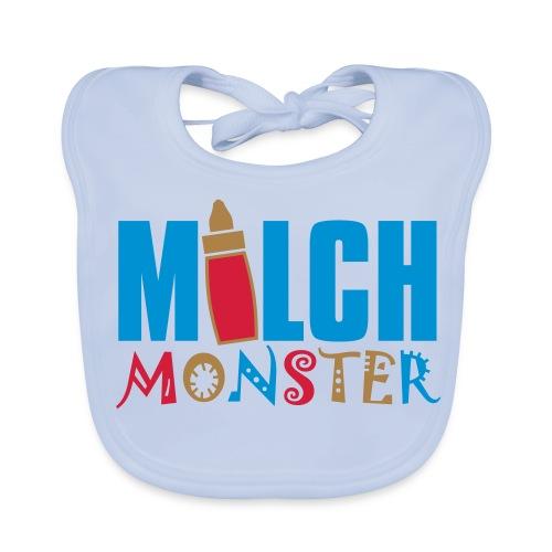 Milch Monster, Baby- Lätzchen, Blau - Baby Bio-Lätzchen
