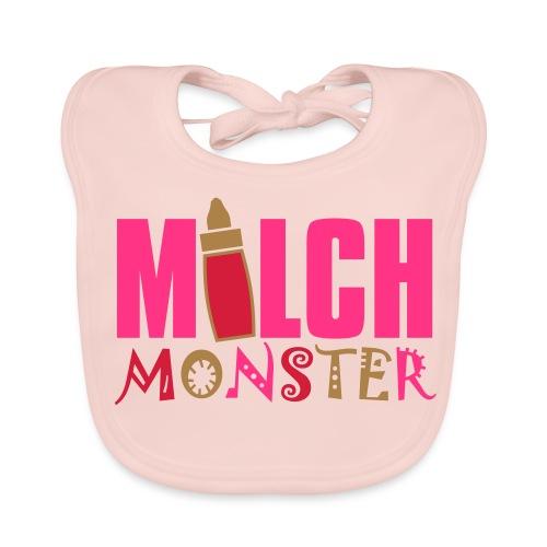 Milch Monster, Baby- Lätzchen,  Rose - Baby Bio-Lätzchen